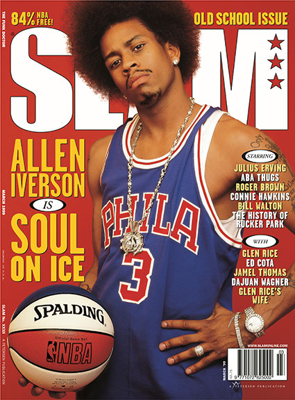 Allen Iverson on the cover of Slam March 1999