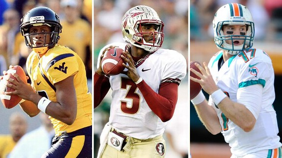 Geno Smith, EJ Manuel, Ryan Tannehill