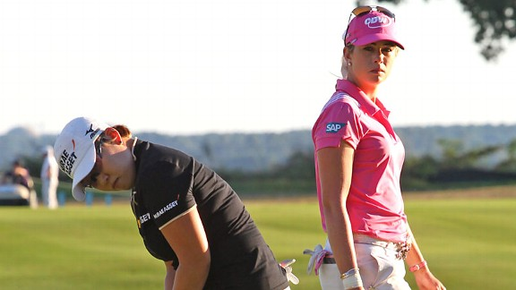 Jiyai Shin and Paula Creamer