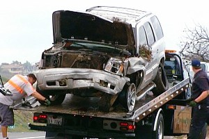 Junior Seau's wrecked SUV