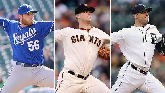 Greg Holland, Matt Cain, Max Scherzer