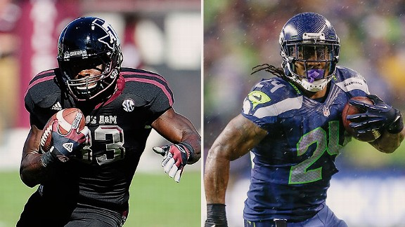 Christine Michael and Marshawn Lynch