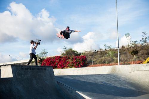 I pretty much made 'Skate Cans' for Ryan to skate to, says MGK. Sheckler gets some practice in far from Hollywood High.
