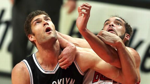 Brook Lopez and Joakim Noah