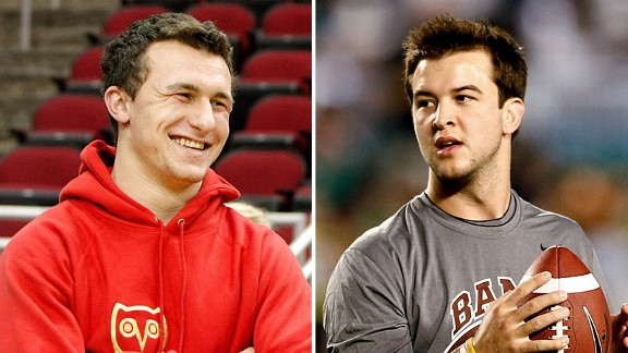 Johnny Manziel and AJ McCarron