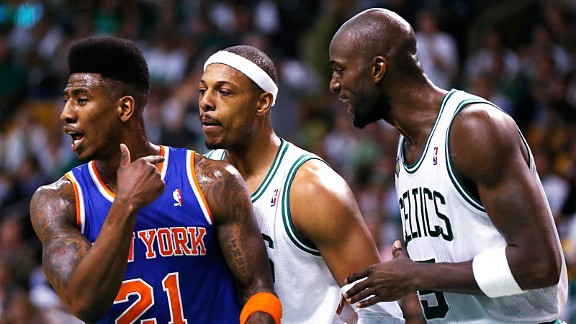 Iman Shumpert, Paul Pierce & Kevin Garnett