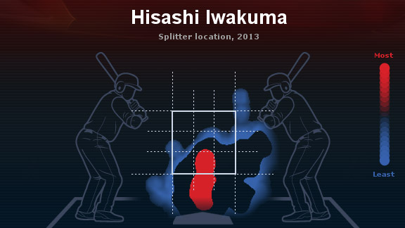 Hisashi Iwakuma heat map