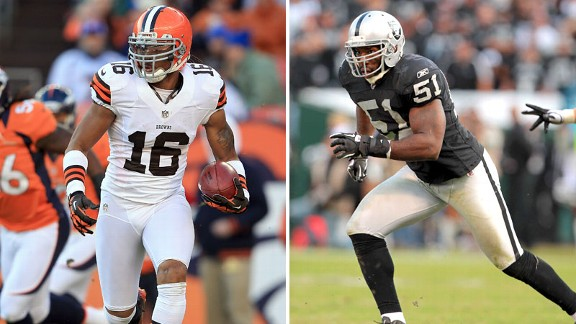 Josh Cribbs and Aaron Curry