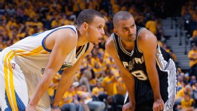 Stephen Curry and Tony Parker
