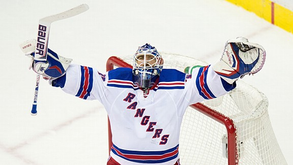 New York Rangers goalie Henrik Lundqvist