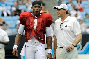 Cam Newton and Mike Shula