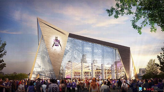 design for the new Minnesota Vikings stadium