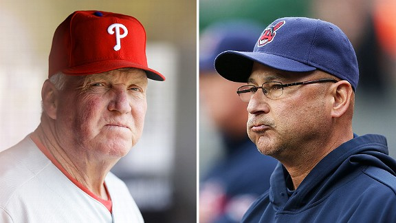 Charlie Manuel and Terry Francona
