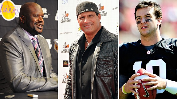 Shaquille O'Neal, Jose Canseco and AJ McCarron