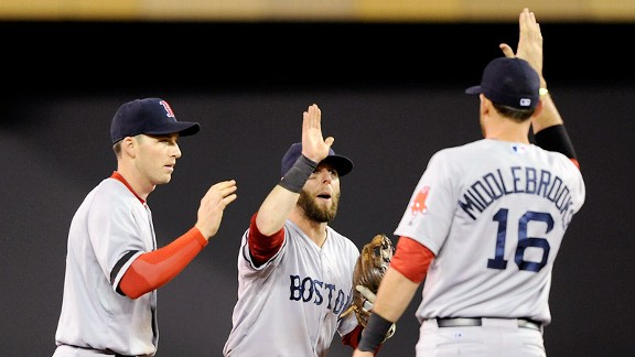 Stephen Drew, Dustin Pedroia, Will Middlebrooks 