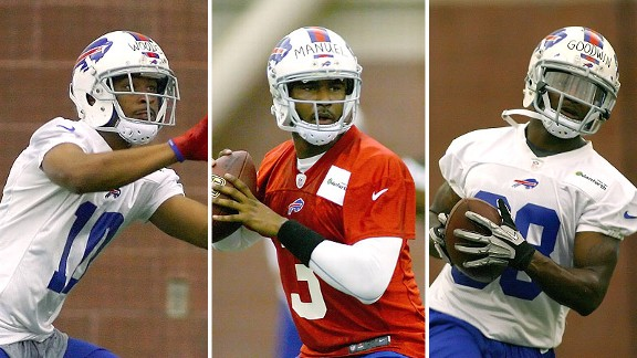 Robert Woods, EJ Manuel, Marquise Goodwin
