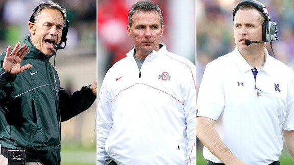 Mark Dantonio, Urban Meyer, Pat Fitzgerald