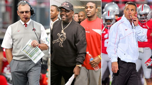 Jim Tressel, Ted Ginn Sr., Troy Smith, Urban Meyer