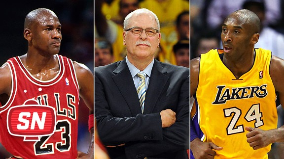 Michael Jordan, Phil Jackson & Kobe Bryant