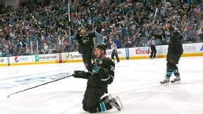 Logan Couture of the San Jose Sharks