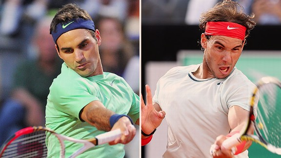 Roger Federer and Rafael Nadal