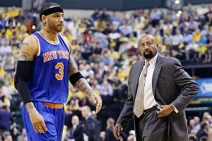 Kenyon Martin and Mike Woodson