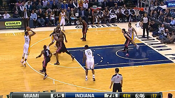 David West Board - Pacers v. Heat
