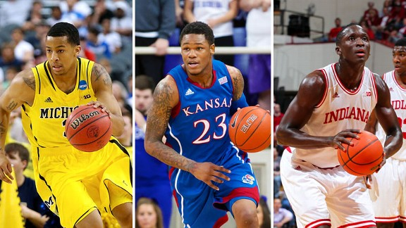 Trey Burke, Ben McLemore and Victor Oladipo