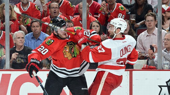 Chicago Blackhawks and Detroit Red Wings
