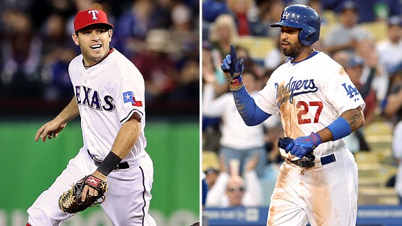 Ian Kinsler and Matt Kemp