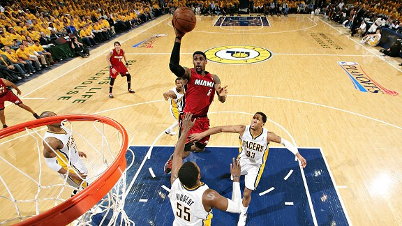 LeBron James prepared to unleash floater over Indiana Pacers - Miami Heat Index- ESPN
