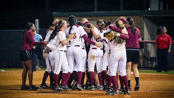 FSU softball celebration
