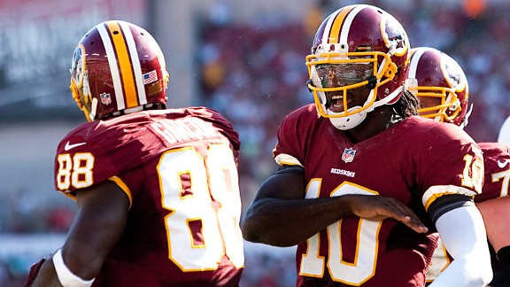 Pierre Garcon and Robert Griffin III