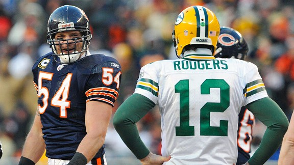 Brian Urlacher and Aaron Rodgers