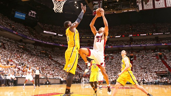Shane Battier kneeing Roy Hibbert