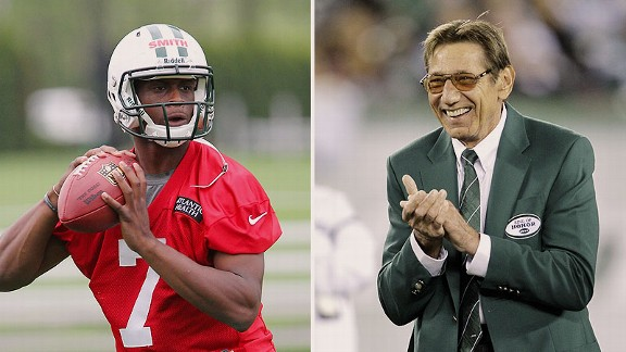 Geno Smith and Joe Namath