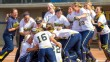Michigan softball celebrating