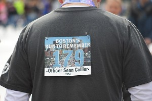 Bib honoring Sean Collier