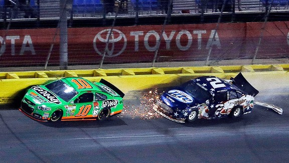 Danica Patrick had made steady progress after starting in the back and was in 21st when the wreck occurred. She finished 29th.