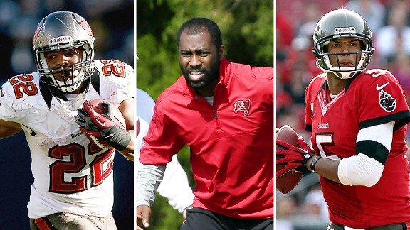 Doug Martin, Darrelle Revis and Josh Freeman