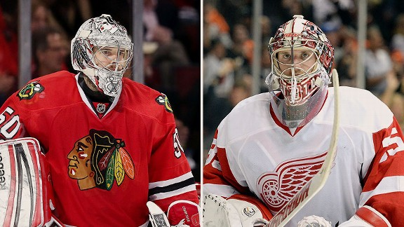 Corey Crawford and Jimmy Howard