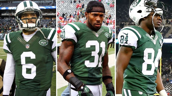 Mark Sanchez, Antonio Cromartie and Stephen Hill