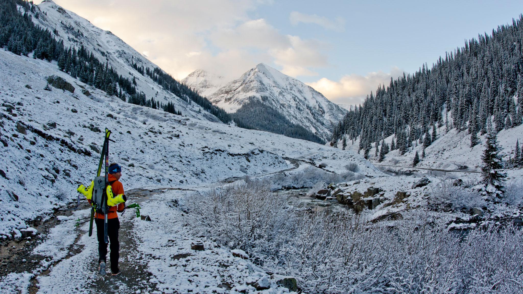 Skiing Colorado's Centennial Peaks