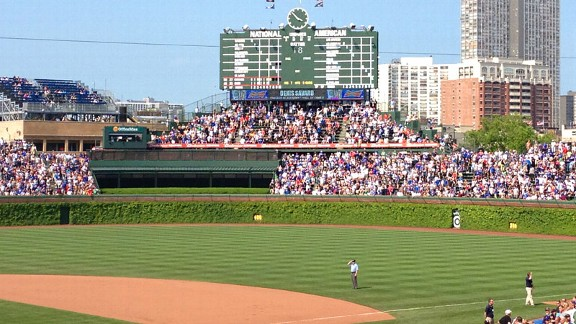Sarah Spain started her day-night doubleheader at Wrigley Field, where the Cubs won.