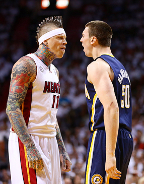 Chris Andersen and Tyler Hansbrough