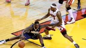 Lance Stephenson and LeBron James