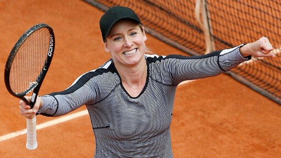 Bethanie Mattek-Sands' rough 2012 season made Thursday's victory celebration all the more sweet.