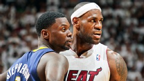 LeBron James and Lance Stephenson