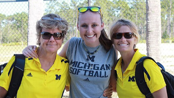 While courageously battling non-Hodkin lymphoma, Emily Hepker has inspired coach Carol Hutchins, assistant Bonnie Tholl and the rest of the Wolverines for the past few seasons.