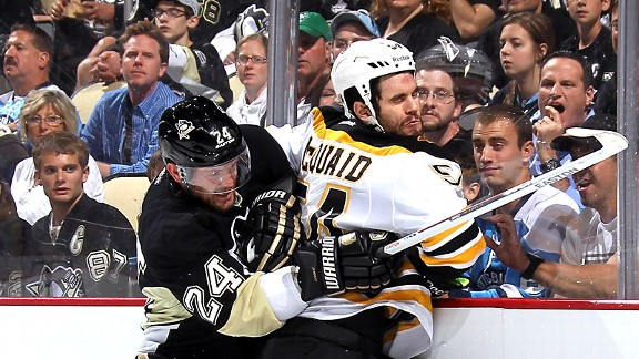 Matt Cooke and Adam McQuaid